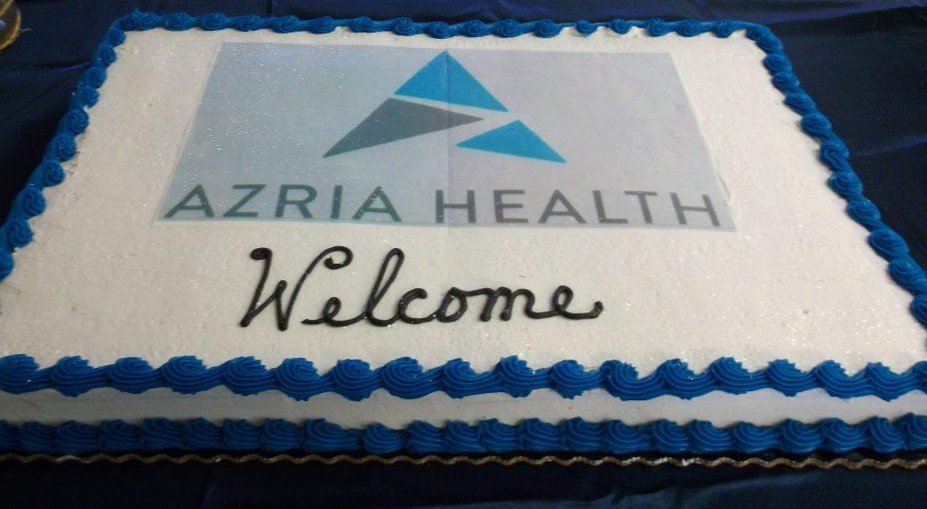 (Azria Health Welcome Cake).
