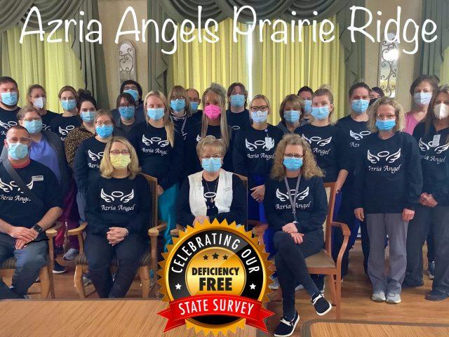 Congratulations to Azria Health Prairie Ridge On A Deficiency Free Survey!